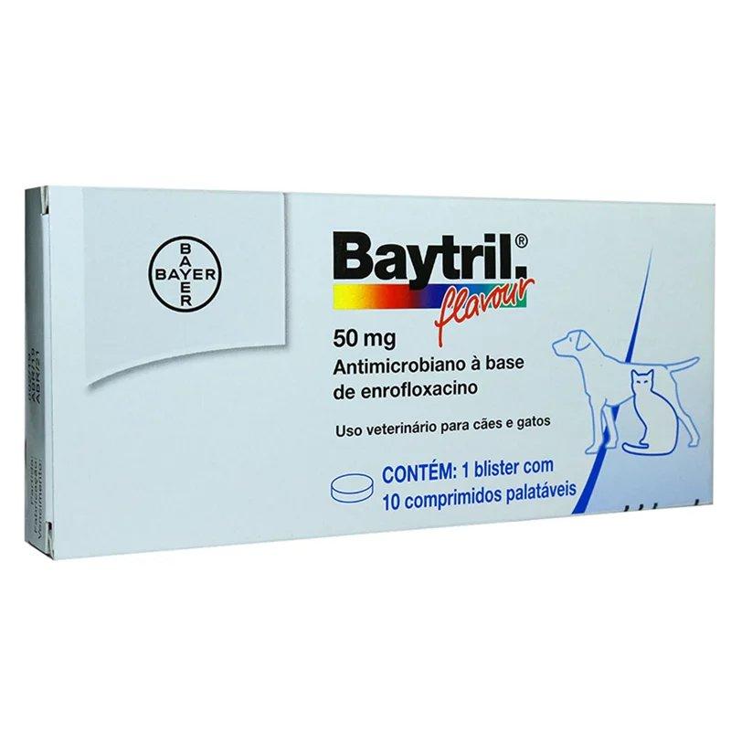 BAYTRIL 50MG CAIXA COM 10 COMPRIMIDOS PALATÁVEIS