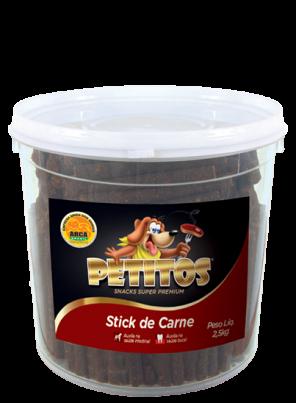 Petitos Palito De Carne Premium Stick Balde 2,5kg