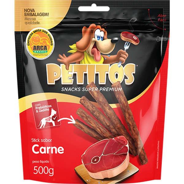 PETISCO BIFINHO PETITOS CARNE STICK 500GR
