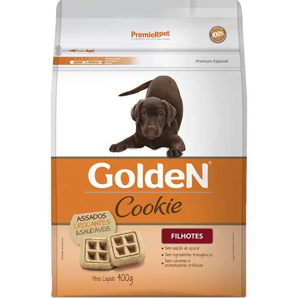 Biscoito Premier Pet Golden Cookie para Cães Filhotes 400 GR