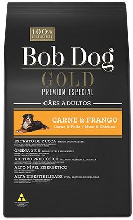BOB DOG GOLD PREMIUM ADULTO RAÇA MÉDIA CARNE E FRANGO 15KG