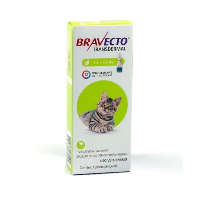BRAVECTO TRASNDERMAL GATOS 1,2 A 2,8KG
