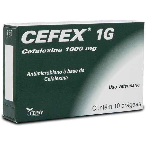 Cefex 01gr Cepav para Cães caixa Com 10 Comprimidos