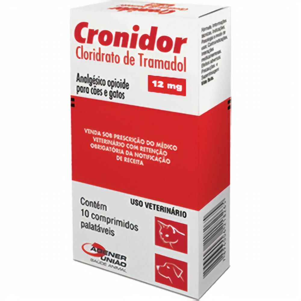 ANALGÉSICO AGENER UNIÃO CRONIDOR 12MG CAIXA COM 10 COMPRIMIDOS