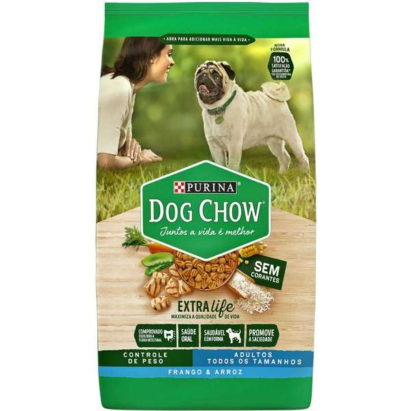 RAÇÃO NESTLÉ PURINA DOG CHOW ADULTO LIGHT FRANGO E ARROZ 15KG