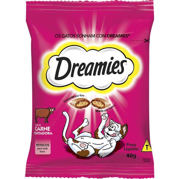 Petisco Dreamies Carne para Gatos Adultos 40g