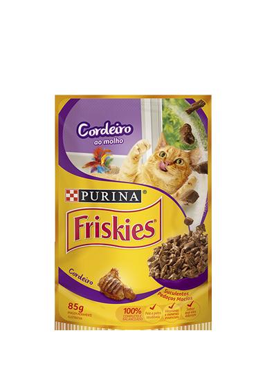 Ração Úmida Nestlé Purina Friskies para Gatos Adultos Sabor Cordeiro 85gr