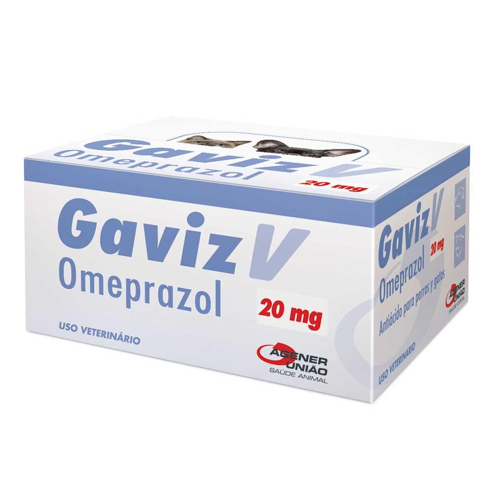 GAVIZ V OMEPRAZOL AGENER 20MG CARTELA AVULSA COM 10 COMPRIMIDOS + BULA