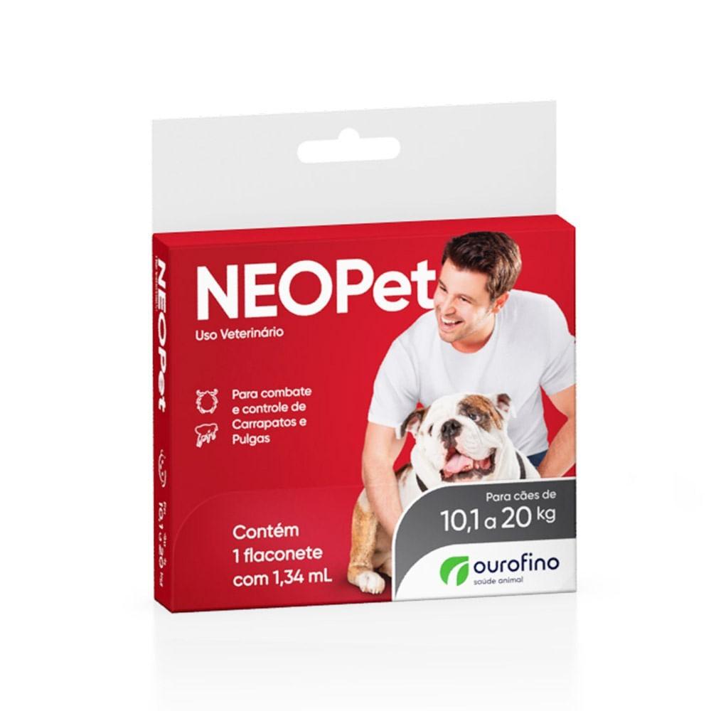Kit 03 Antipulgas E Carrapatos Neopet Cães 10,1 A 20 Kg Ouro Fino Caixa Com 01 Pipeta