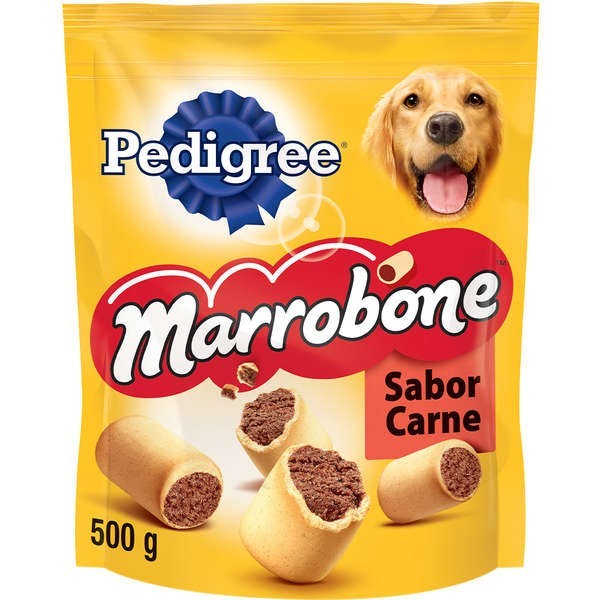 Kit com 5 Biscoito Pedigree Marrobone Carne Cães Adultos 500 GR