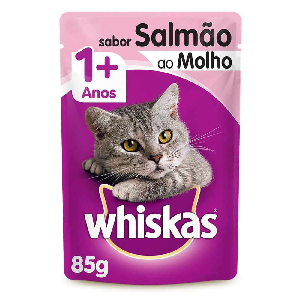 KIT PROMO LEVE 11 E PAGUE 10  SACHE WHISKAS SALMÃO 85GR