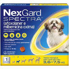 Nexgard Spectra Antipulgas, Carrapatos e Sarnas para Cães de 3,6 a 7,5kg - Envio Imediato
