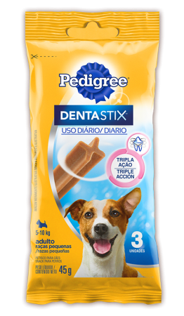 Petisco Cães Ad Raças Pequenas Pedigree Dentastix 45g 3 Un