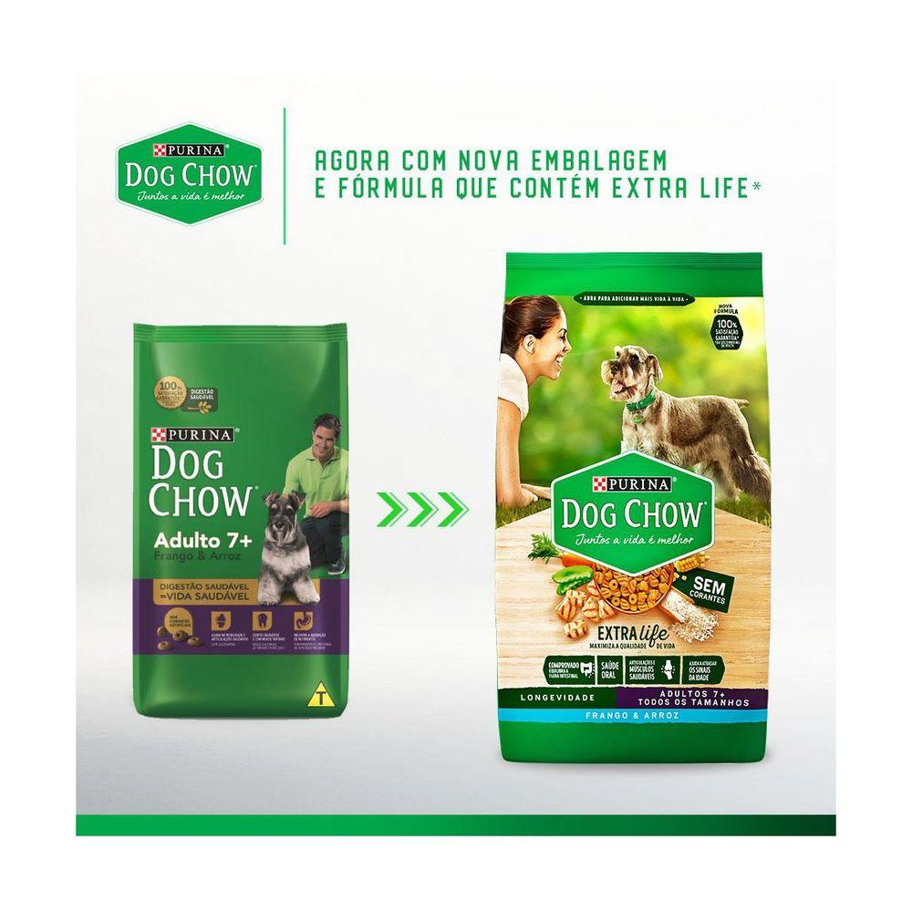 Ração Dog Chow Cães Adultos Longevidade 7+ Frango e Arroz 15KG