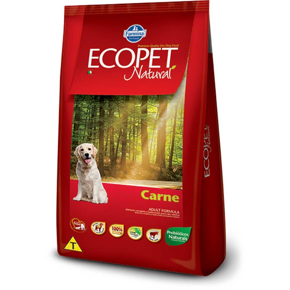 Ração Farmina Ecopet Natural Carne para Cães Adultos 15KG