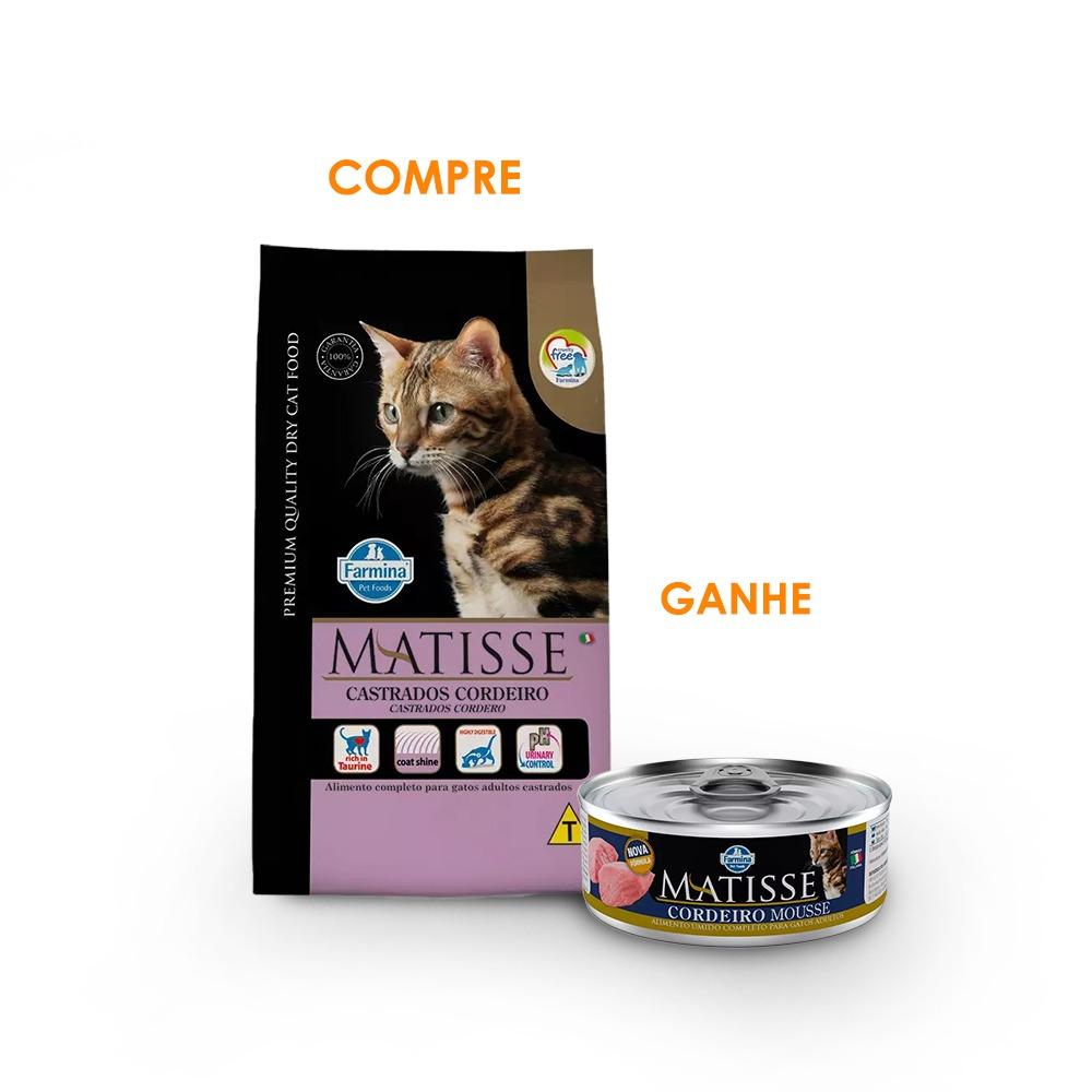 Ração Farmina Matisse Cordeiro para Gatos Adultos Castrados 2KG