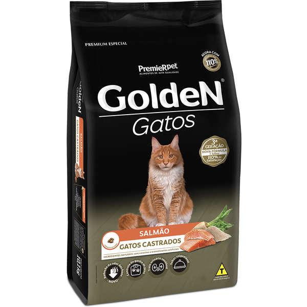 Ração Golden Gatos Adultos Castrado Salmão 6kg
