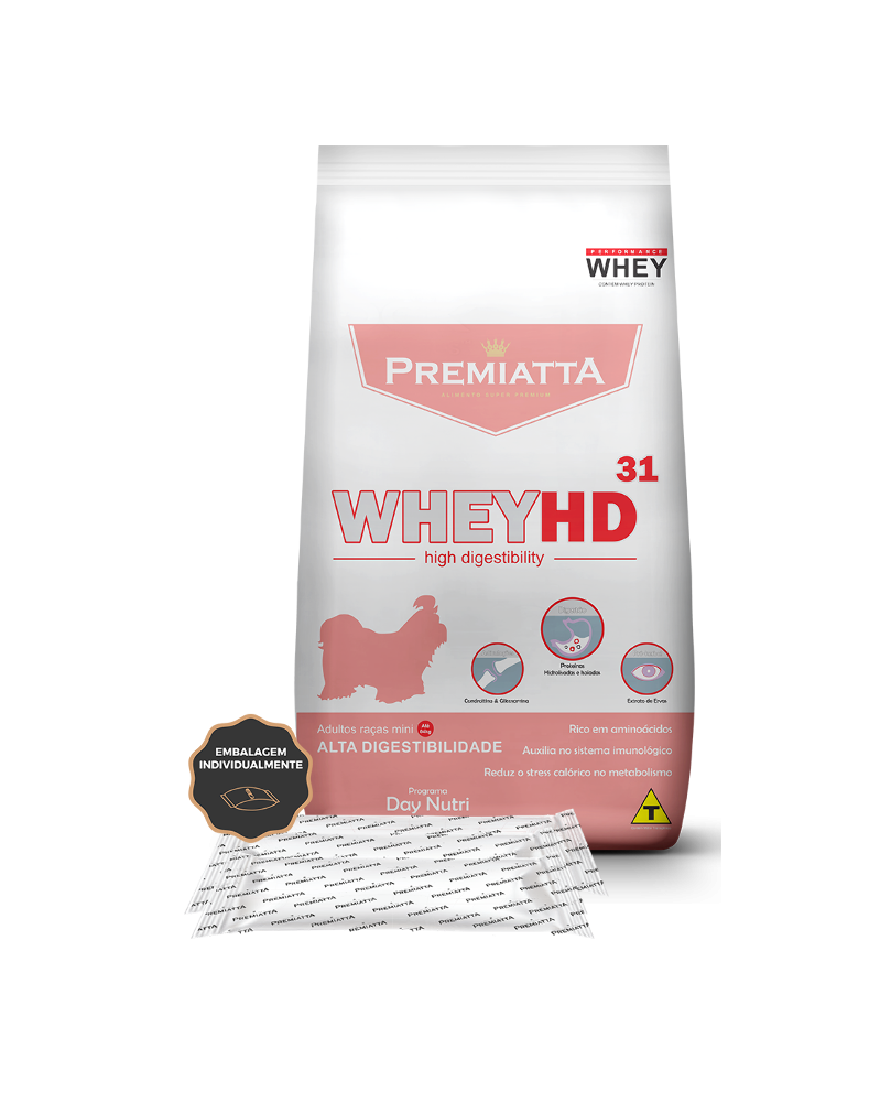 Ração Premiatta Whey HD Alta Digestibilidade para Cães de Raças Miniaturas 3Kg