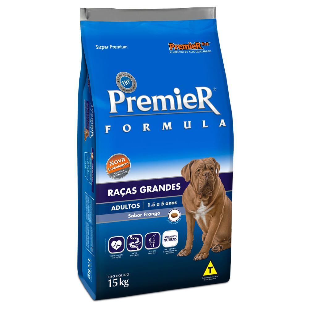 Ração Premier Formula Cães Adultos Raças Grandes Sabor Frango 15kg