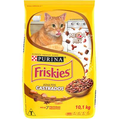 Ração Seca Nestlé Purina Friskies Mix de Carnes Castrado para Gatos Adultos 10 KG