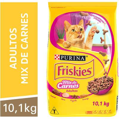Ração Seca Nestlé Purina Friskies Mix de Carnes para Gatos Adultos 10KG