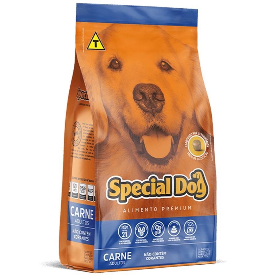 Ração Special Dog Premium para Cachorro Adulto Sabor Carne em Embalagem 20kg