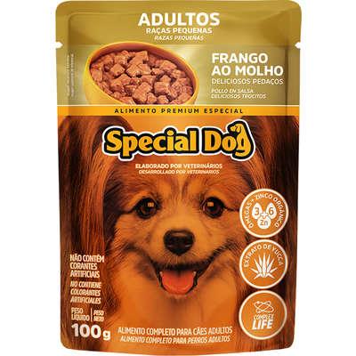 Ração Úmida Special Dog Sachê Frango para Cães Adultos 100gr Caixa c/ 12 Un.