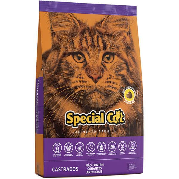 RAÇÃO SPECIAL CAT ADULTO MIX CASTRADOS 10KG
