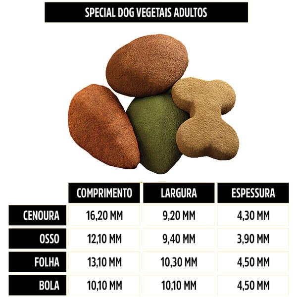 Ração Special Dog Premium com Vegetais para Cachorro Adulto em Embalagem15kg