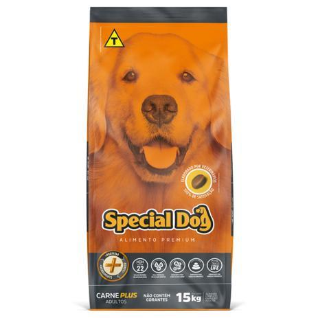 Ração Special Dog Premium Carne Plus para Cães em Embalagem 15kg