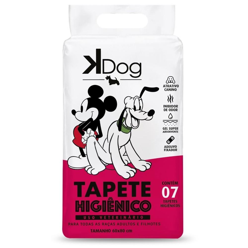 Tapete Higiênico K Dog Mickey e Amigos para Cães de todas as raças e idades 80 x 60 cm Com 07 UNIDADES