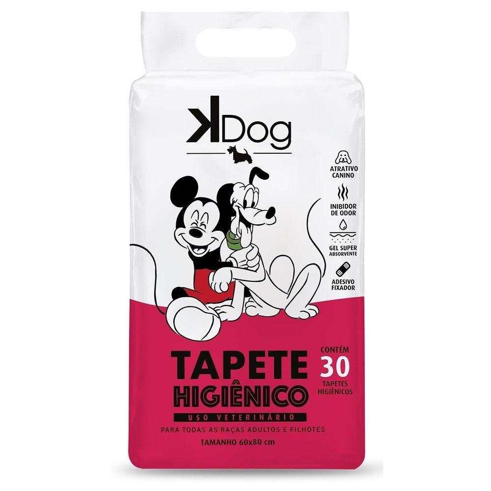 Tapete Higiênico K Dog Mickey e Amigos para Cães de todas as raças e idades 80 x 60 cm Com 30 UNIDADES