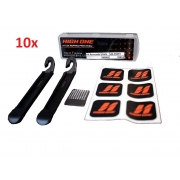 10x Kit Reparo Furo Bike High One Espátula Lixa Remendo