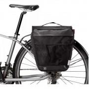 Alforge Duplo Bolsa Bike Bagageiro Traseiro 28l Impermeável