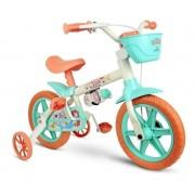 Bicicleta Aro 12 Infantil Nathor Sea - Branco C/ Verde