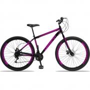 Bicicleta Aro 29 Dropp Sport Aço 21v Freio a Disco - Preto / Rosa