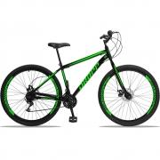 Bicicleta Aro 29 Dropp Sport Aço 21v Freio a Disco -Preto / Verde