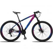 Bicicleta Aro 29 Dropp Z3 21v Shimano Freio a Disco -  Pink / Azul