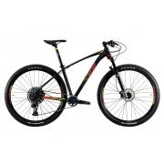 Bicicleta Aro 29 MTB Oggi Big Wheel 7.6 SRAM GX 12v 2021 - Preto / Vermelho / Amarelo