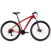 Bicicleta Aro 29 MTB Oggi Hacker Sport Shimano 21v 2021 - Vermelho / Vinho / Amarelo