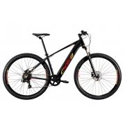 Bicicleta Aro 29 Oggi Big Wheel 8.0 E-Bike 2021 - Preto / Vermelho / Amarelo
