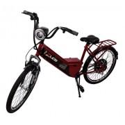 Bicicleta Aro 26 Elétrica Confort 800w Duos Bike - Vermelho