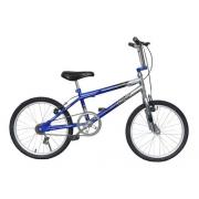 Bicicleta Infantil Dnz Aro 20 Bmx Cross - Azul C/ Prata