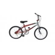 Bicicleta infantil Dnz Aro 20 Bmx Cross - Vermelho C/ Prata