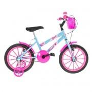 Bicicleta Infantil Feminina Ultra Kids Aro 16 - Azul / Rosa