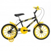 Bicicleta Infantil Masculina Ultra Kids Aro 16 - Preto / Amarelo