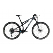 Bicicleta MTB Oggi Full Cattura Pro T-20 GX 2021 - Preto / Grafite / Vermelha