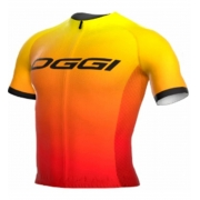 Camisa Ciclismo Oggi Agile Elite Team Laranja Amarelo 2021