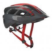 Capacete Bike Ciclismo Mtb Scott Supra - Cinza / Vermelho