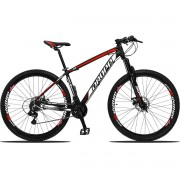Bicicleta Aro 29 Dropp Z3 21v Shimano Freio a Disco - Preto / Vermelho / Branco